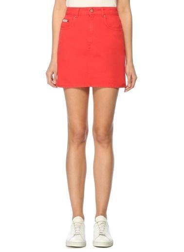 Alexa Chung for AG Mini Jean Etek Kırmızı
